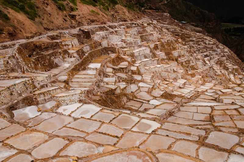 The Salt Mines at Maras (Salineras de Maras), Peru