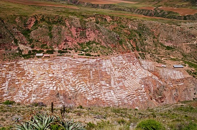 The Salt pans at Maras (Salineras de Maras), Peru consist of more than 3,000 shallow pools that evaporate over-saturated water from a nearby spring (Qoripujio). The result is - salt.