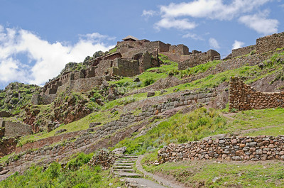 The ancient Inca village of Pisac, Peru