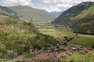 View into the Sacred Valley of the Incas, Peru