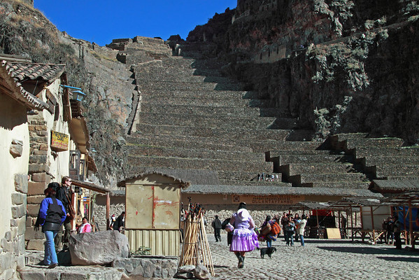 Ollantaytambo 4244<br /> The Mid 15th Century the Inca Emperor Pachacuti created his royal estate at Ollantaytambo. It became a main defensive structure against other tribes from the rain forest. The walled complex also contained a temple to the sun.
