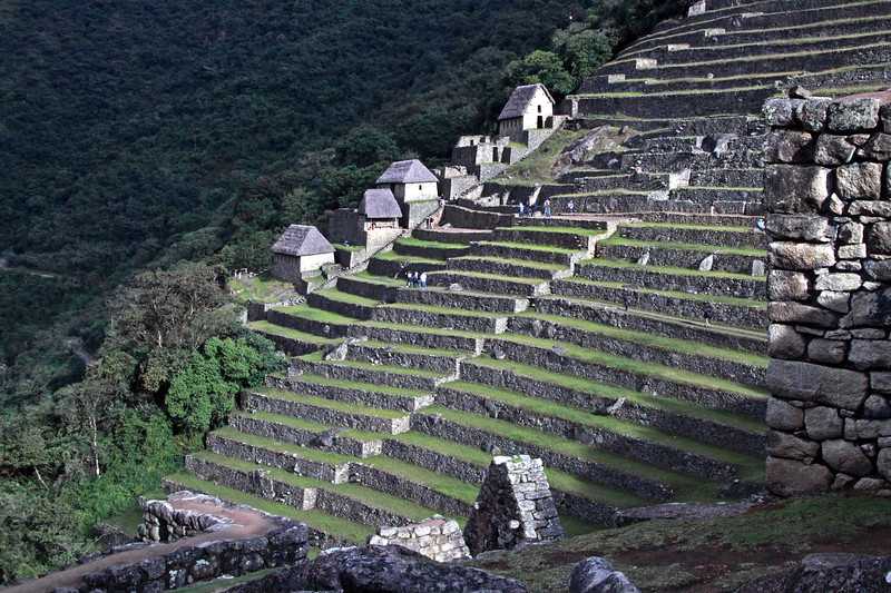 Guard Houses 4920<br /> Guard Houses behind the farming terraces at Machu Picchu.