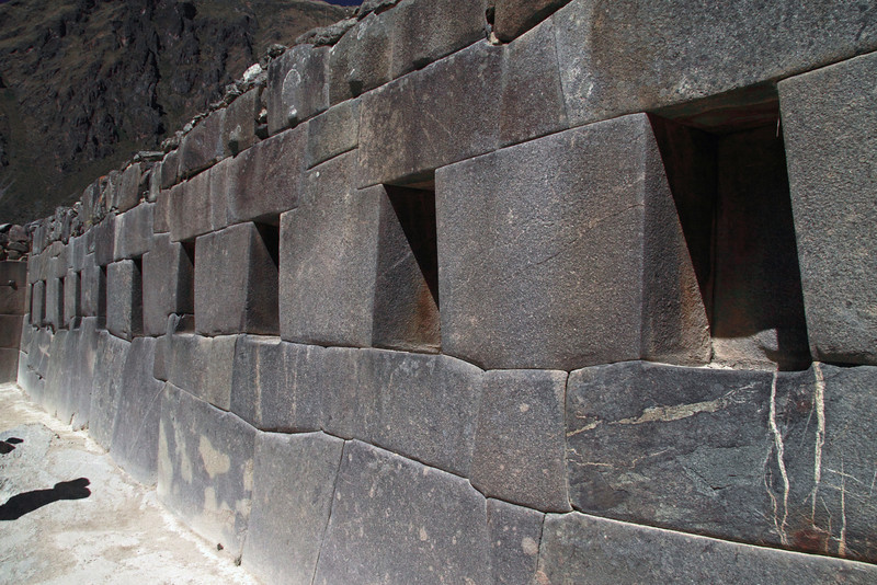 Ollantaytambo 4337<br /> Wall just before the door going to the Temple of  the Sun.