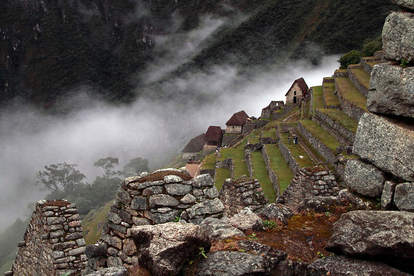 Guard Houses 4948<br /> Guard Houses behind the farming terraces at Machu Picchu.