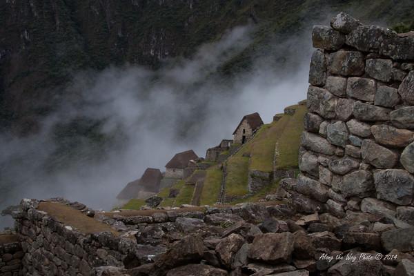 Machu Picchu 4944<br /> Guard Houses behind the farming terraces at Machu Picchu