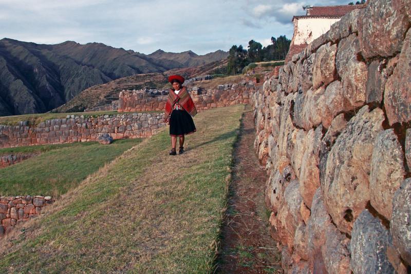 Chinchero 4151;<br /> The inca walls over by Chinchero.