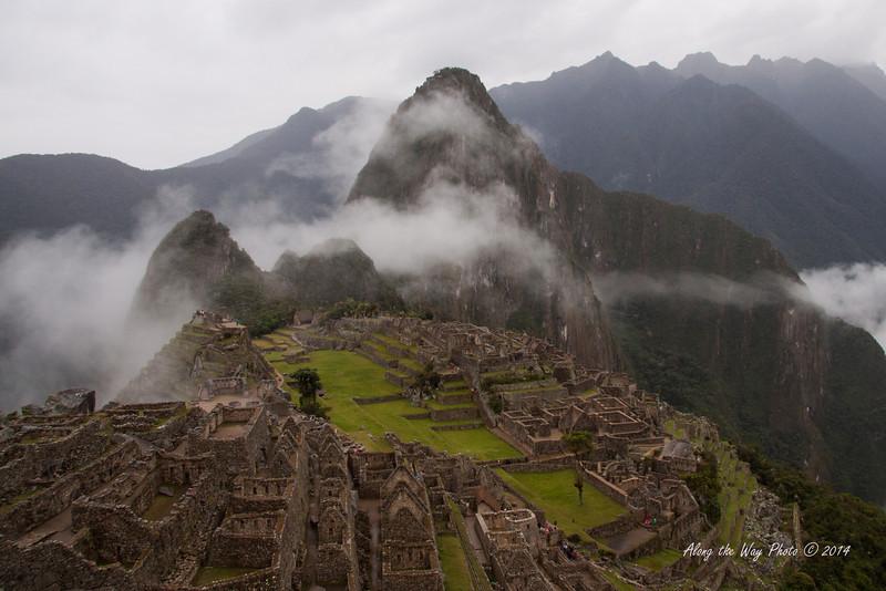 Machu Picchu 4757<br /> Ruins of Machu Picchu with clouds.