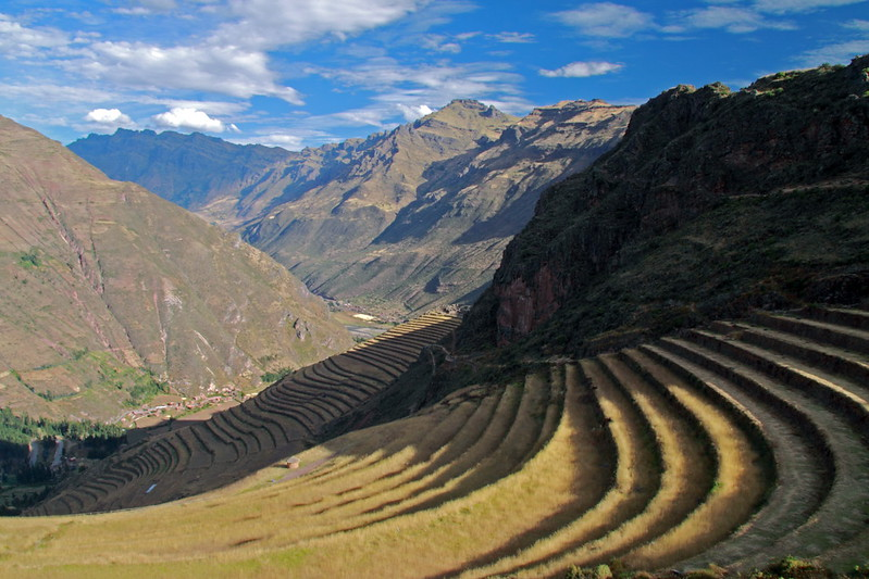 Pisac 3817<br /> Farming Terraces at Pisac with the village 1700 feet below in the valley.