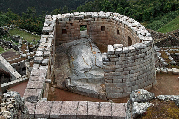 Temple of the Sun 4871<br /> The tower is built on a carved outcroping of rock. The lower part of the tower has the Royal Tomb in it. The Temple, on the upper portion of the tower has two window, one facing East and the other Southeast. The Winter Solstice (June 21st) the sun will shine through the East window and the Summer Solstice, (Dec. 21st) it will shine through the Southeast Window.