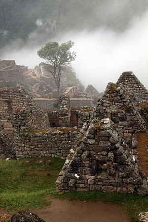 Visitor's House 4951<br /> Overlooks the Visitors House and the Condor Temple at Machu Picchu.