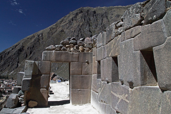 Ollantaytambo 4338<br /> Doorway leading to the Temple of the Sun.