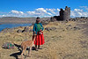 Sillustani 5801<br /> Some of the local Colla people will pose for pictures with their alpacas.