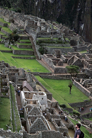 Industrjial District 4854<br /> Looking down on the Industrial District at Machu Picchu.