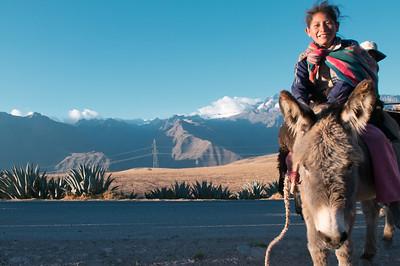 Girl in donkey