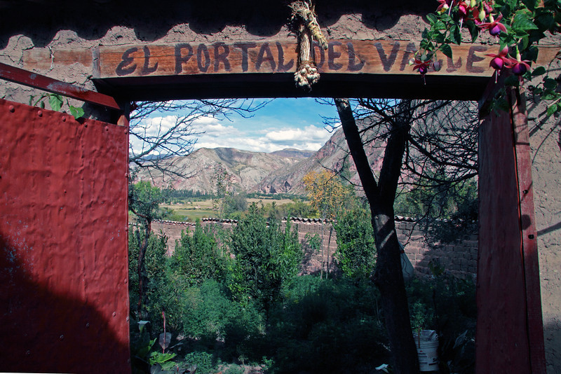 Urubamba 4434<br /> Doorway to a garden in the Urubamba Valley
