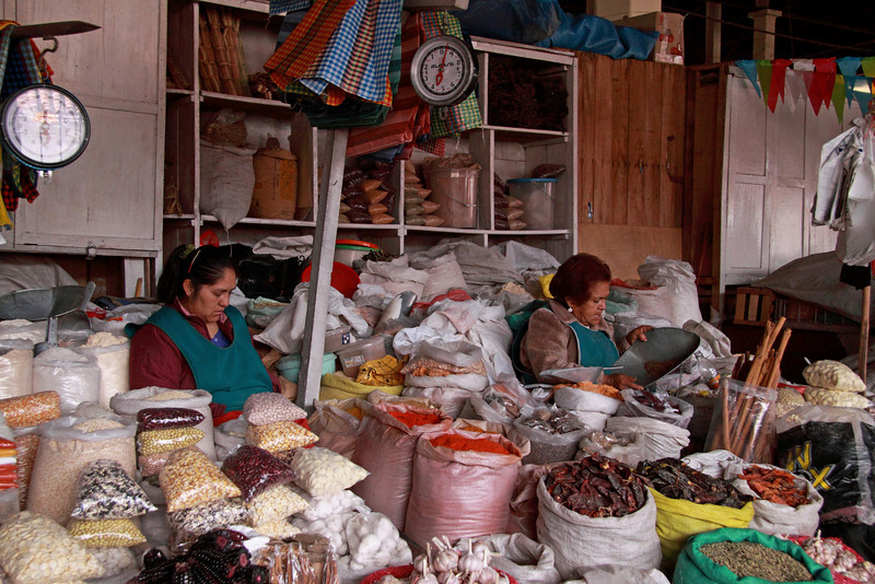 Cusco 5138<br /> Cusco Market where where locals will go to get their every day needs.