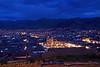 Cusco 3627<br /> Plaza de Armas in Cusco at dusk.