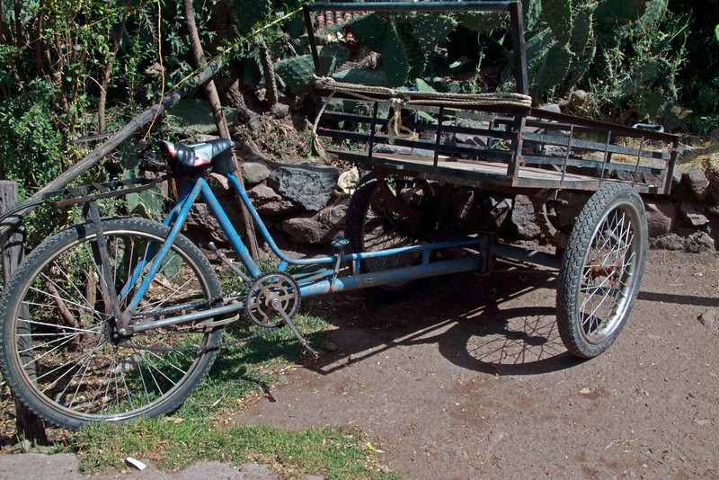 Pisac 3759<br /> Three wheel bike in Pisac