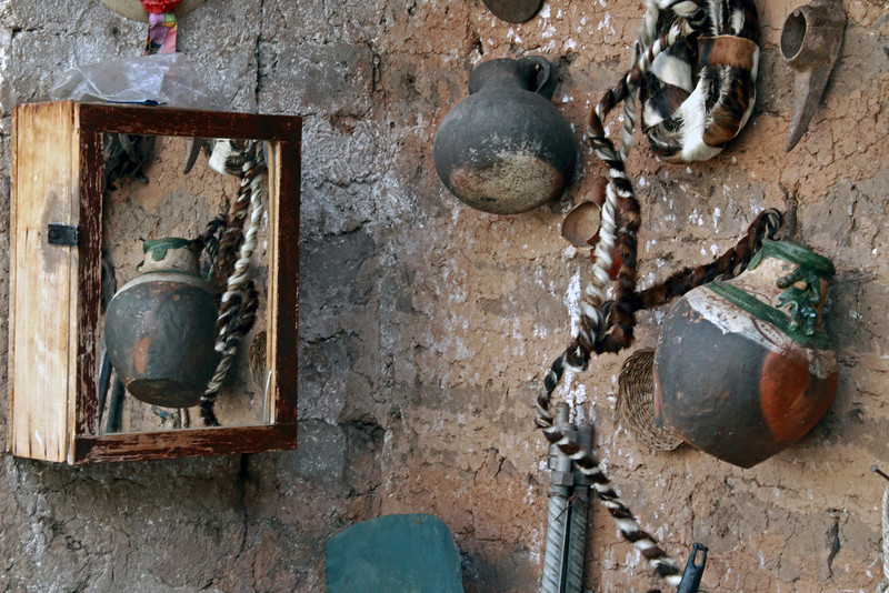 Urubamba 4436<br /> Display of various items used by the people of Peru in the Urubamba Calley