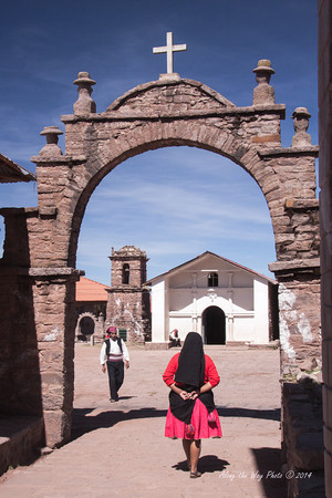 Titicaca 5433<br /> Entryway to the village at Port Alsuna on Lake Titicaca.