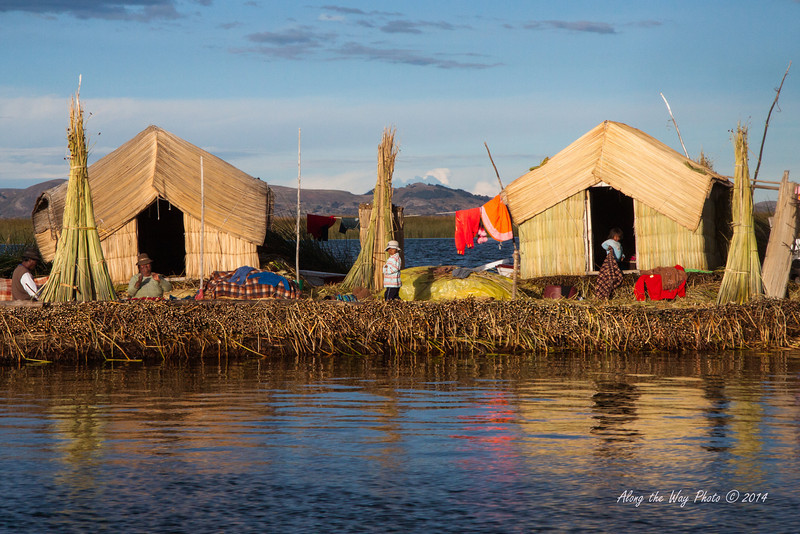 Titicaca 5514<br /> Uros village on Lake Titicaca.