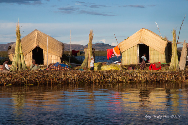 Titicaca 5514<br /> Uros village on Lake Titicaca.