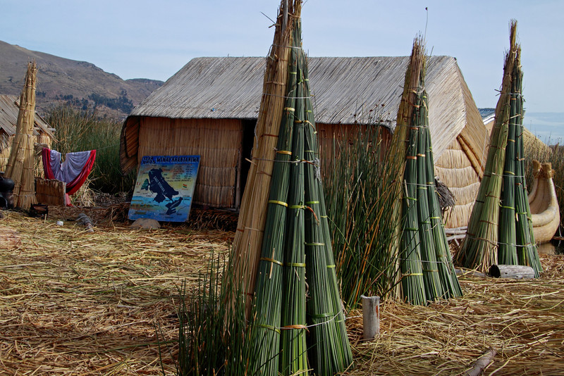 Titticaca 5693<br /> Totora reeds are stacked on the islands and used as needed.
