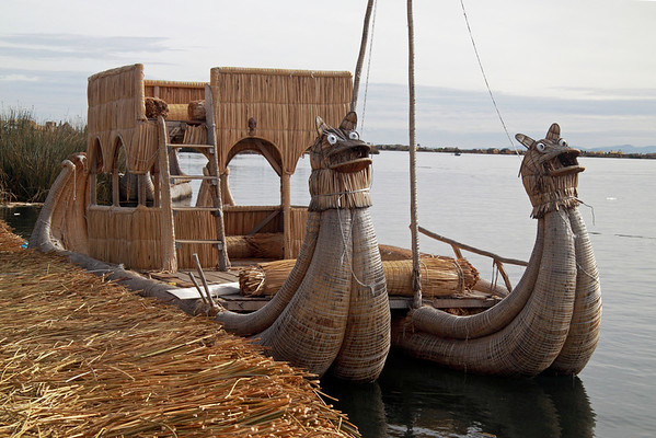 Titticaca 5690<br /> The boats are made with the totora reeds and are available for rides to other islands.