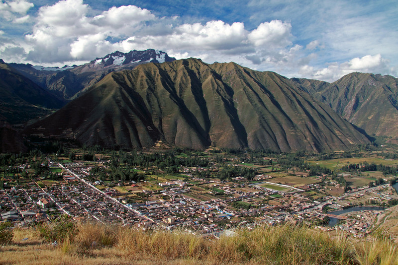 Urubamba 4449<br /> Overlooking Urubamba Valley with teh Andes in the background