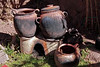Titicaca 5440<br /> Stove with cooking pots on the floating islands of the Uros people On Lake Titicaca.