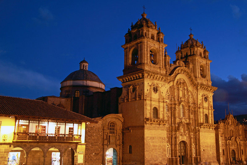 Cusco 3366<br /> Cathedral in Cusco. Built in the Mid 15th Century by the Spainish on top of the foundation of an Inca palace.