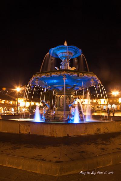 Cusco 3384<br /> Fountain in town square in Cusco.