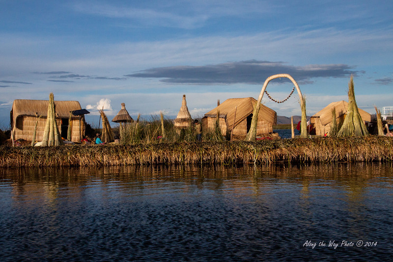 Titicaca 5510<br /> Uros village on Lake Titicaca.