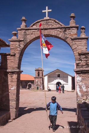 Titicaca 5434<br /> Village at Port Alsuno on Lake Titicaca.