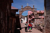 Titicaca 5422<br /> Archway going into the village on Taquile Island.