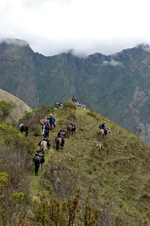 Breaking for Lunch, Trekking Inca Trail, Vilcabamba, Peru