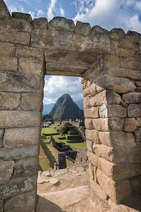In the ruins at Machu Picchu