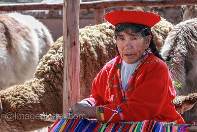 Woman Weaving Carpets, Peru
