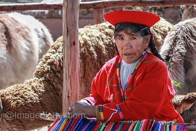 Woman Weaving Carpets, Peru