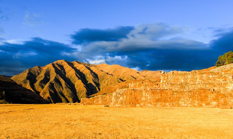 Inca Palace ruins in Chinchero, Cuzco, Peru