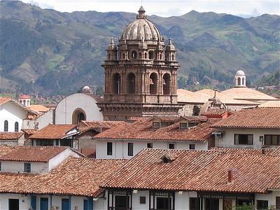 De daken van Cuzco, Peru.