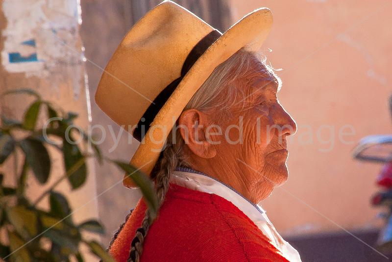 Woman in Olantaytambo