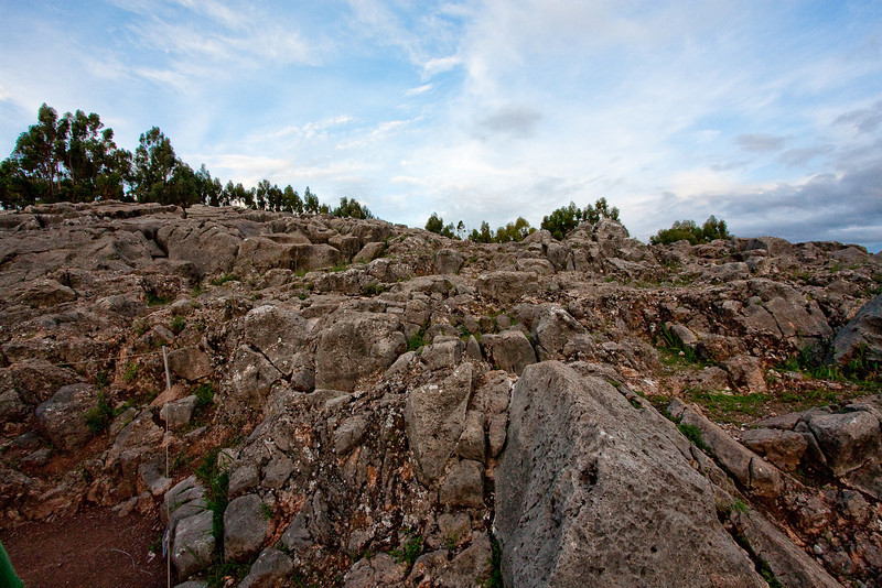 This is a quarry from which stones were used to build many of the surrounding ruins.