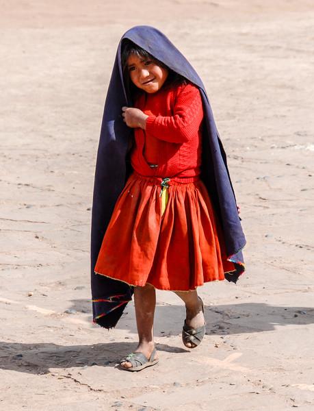 Local Peruvian Girl, Lake Titicaca, Peru