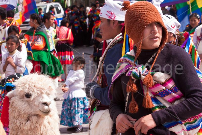 Parade participant