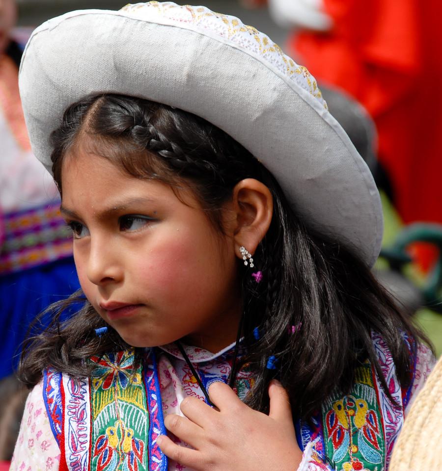 Peruvian Child in National Attire - Arequipa, Peru