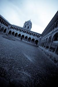 cusco santo domingo courtyard blue
