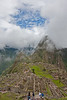 Finally some blue skies! Machu Picchu with Wayna Picchu in the background.