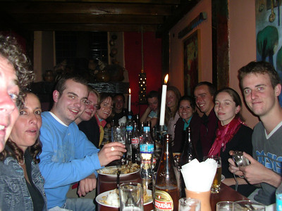 Dinner with my Spanish school group (I'm the fifth person down about on left).