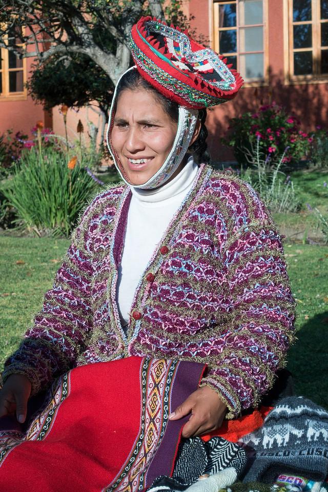 Local woman Ollantaytambo